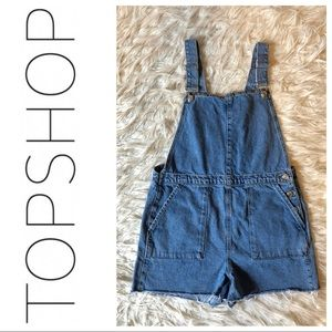 TopShop Moto Jean overall shorts